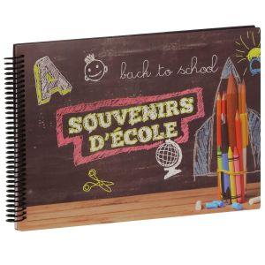 Album photo PANODIA scolaire BACK TO SCHOOL SOUVENIR D'ECOLE - 34 pages illustrées - Pour 8 années scolaires - Couverture 31x23cm