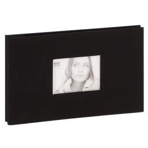 Mini album photo DEKNUDT - 20 pages amovibles noires - 40 photos - Couverture Noire 22,5x14,5cm + fenêtre