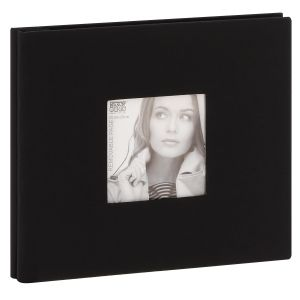 Album photo DEKNUDT traditionnel - 40 pages noires amovibles - 40 photos - Couverture Noire 24,5x21,5cm + fenêtre