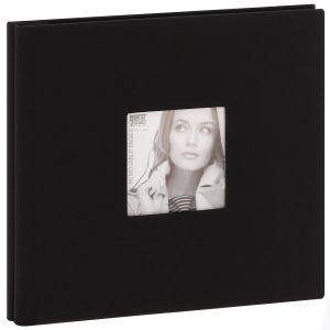 Album photo DEKNUDT traditionnel - 20 pages noires amovibles - 40 photos - Couverture Noire 35x31,5cm + fenêtre