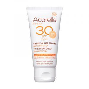 Crème Solaire Bio Teintée Visage - SPF 30 - Acorelle