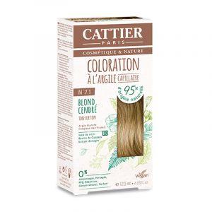Coloration Capillaire à l'Argile - Cattier 7.1 Blond cendré