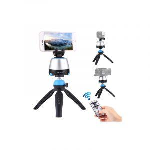 Puluz Électronique 360 ??degrés Rotation Tête Panoramique Trépied Gopro Clamp Téléphone Pince Avec Télécomman