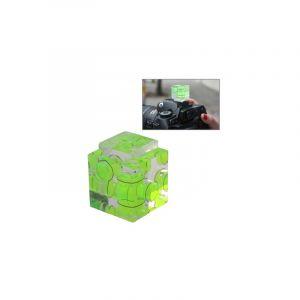 Niveau À Bulle Triple Axe Sur Le Sabot 3d De L'appareil Photo (vert)