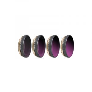 4 In 1 Sunnylife Oa-fi175 Nd4/pl + Nd8/pl + Nd16/pl + Nd32/pl Adjustable Lens Filter Pour Dji Osmo Action