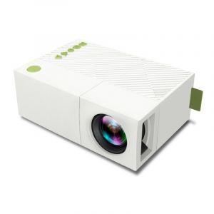 Mini Projecteur 400 Lumens Portable Avec Télécommande, Support Hdmi, Av, Sd, Interfaces Usb (blanc)