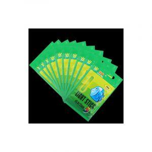 50 Pièces / 10 Packs Ocean Sun Bâton Lumineux Léger Pour Pêche De Nuit, Visibilité: 30 M, Taille: 4,5 X 37 Mm