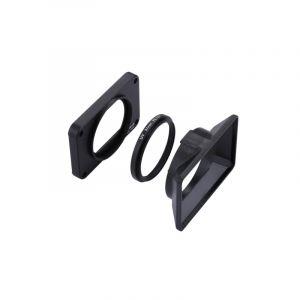 Panneau Avant En Alliage D'aluminium Puluz Lentille De Filtre Uv De 37 Mm Parasol De Lentille Pour Sony Rx0 / Rx0 Ii, Avec