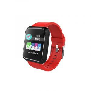 Sport 3 Montre Intelligente Connecté Blood Pressure Ip68 Etanche Fitness Tracker Clock Smartwatch Pour Ios Android Wearable Devices (rouge)