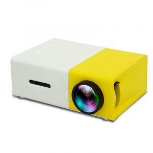 Mini Projecteur Led 400 Lumens Portable Avec Télécommande, Support Hdmi, Av, Sd, Interfaces Usb (jaune)