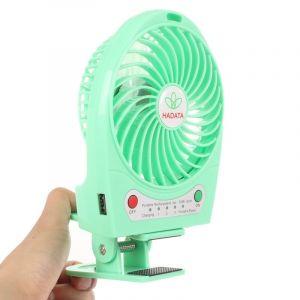 Ventilateur Portable Usb / Li-ion À Piles Rechargeable (vert)