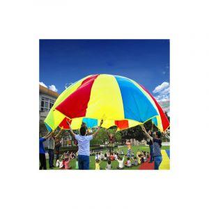 7m Parapluie Arc-en-parachute Pour Les Enfants Avec 32 Sangles De Poignée, Utilisé Pour Les Familles / Jardins D'enfants / Pa