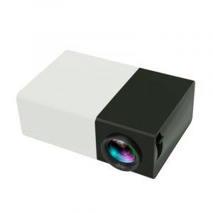 Mini Projecteur Led 400 Lumens Portable Avec Télécommande, Support Hdmi, Av, Sd, Interfaces Usb - (noir)