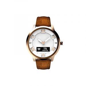 Montre Intelligente Avec Bracelet En Croûte De Cuir De Lenovo Watch X Plus, Moniteur De Fréquence Cardiaque Avec Support / Mo