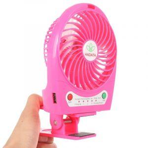 Ventilateur Portable Usb / Li-ion À Piles Rechargeable (magenta)