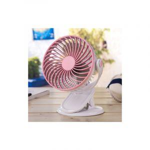 Ocube Mini Ventilateur De Bureau 4w, Chargeur Usb, 3 Vitesses (rose)