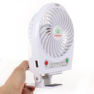 Ventilateur Portable Usb / Li-ion À Piles Rechargeable (blanc)