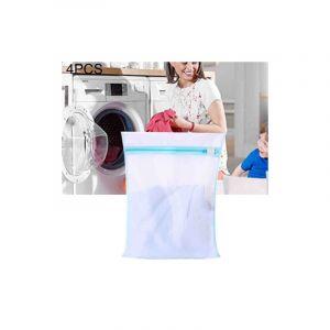 4 Pièces Épaississement Grossier Maille Sac À Linge Costume Polyester Lavage Sac En Maille, Taille: S, 30 X 40 Cm (bleu)