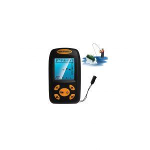 Détecteur De Poissons Ultrasonique Portable, Sondeur De Profondeur Et De Température Avec Capteur De Sonar Filaire Et Écran
