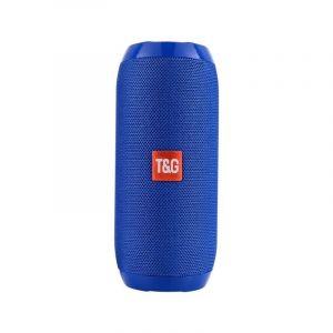 Haut Parleur Enceinte Bluetooth - 1200mah Étanche Portable Sans Fil, Port Micro-sd, Radio Fm, Aux Bleu