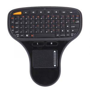 Mini Clavier Sans Fil, 2,4 Ghz Avec Pavé Tactile Et Mini-récepteur Usb,qwerty (noir)