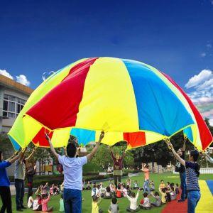 Jouet Enfants 3.6m Extérieur Arc-en-parapluie Parachute 8 Sangles