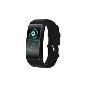 Qw18 0,96 Pouces Bracelet À Écran Couleur Intelligente, Ip68 Imperméable À L'eau,mode Sport Compatible / Surveillance Du