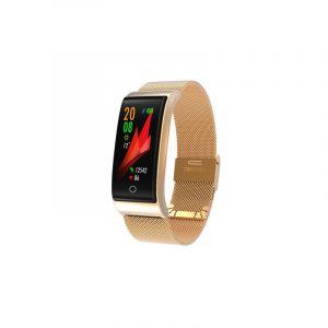 F4 0.96 Pouce Tft Couleur Bracelet En Métal Bracelet Smartband Smartphone, Ip67 Étanche, Support Mode Sport / Rappel D'appel