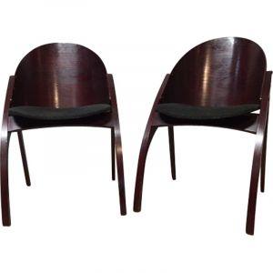 Paire de fauteuils vintage de Pascal Mourgue par Memphis 1980