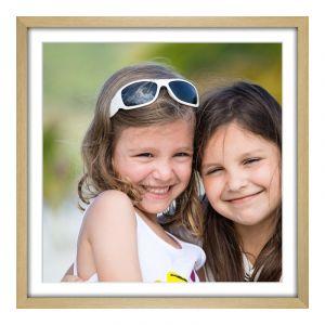 Impression de photos en Cadre photo en véritable hêtre veiné naturel en format 100 x 80 cm