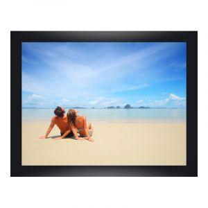 Impression de photos en Cadre large en bois pour photo pour galerie en noir en format 100 x 80 cm
