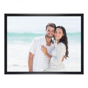 Impression de photos en Cadre en bois veiné pour photo en noir en format 100 x 80 cm