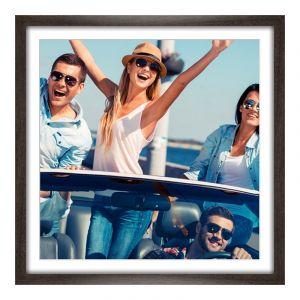 Photo sur poster en Panorama cadre en bois veiné en brun en panorama en format 120 x 30 cm