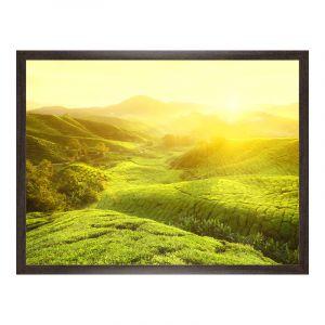 Impression de photos en Cadre en bois veiné pour photo en brun en format 100 x 80 cm