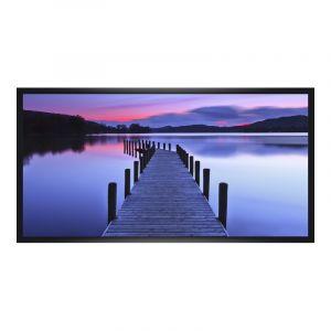 Photo sur poster en Cadre en bois panoramique en noir en panorama en format 120 x 30 cm