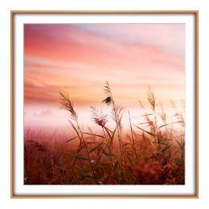 Agrandir photo en Cadre en aluminium carré en cuivre carré en format 60 x 60 cm