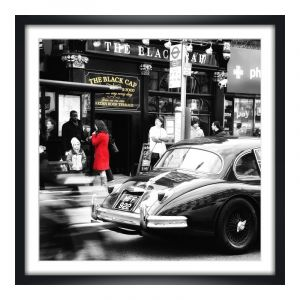 Photo de Londres Agrandir photo en Cadre photo bois en noir carré en format 40 x 40 cm