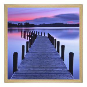 Agrandir photo en Cadre photo en bois d'hêtre veiné de couleur naturelle carré en format 80 x 80 cm