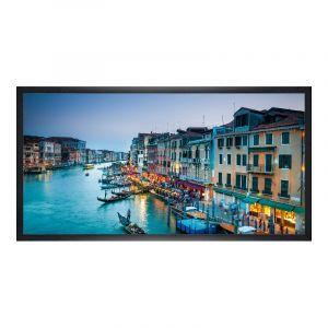 Photo sur poster en Panorama cadre en bois veiné en noir en panorama en format 120 x 30 cm