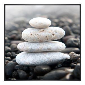 Photo avec pierres Agrandir photo en Cadre photo plastique en noir carré en format 30 x 30 cm
