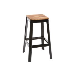 Tabouret de bar design noir H75cm NICK