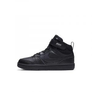 Chaussure Nike Court Borough Mid 2 pour Jeune enfant - Noir - Taille 27.5 - Unisex