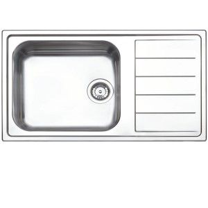 Evier inox 1 bac 1 egouttoir a gauche comparer 116 offres for Evier encastrable inox 1 bac