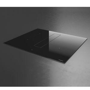 Table induction aspirante Elica PRF0167054 NIKOLATESLA FIT BL/A/70 Largeur 70 cm, Verre vitroceramique Noir