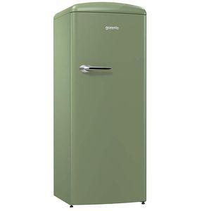 Réfrigérateur GORENJE ORB153OL 254 litres dont congélateur 25 litres, classe A+++, charnières à droite vert olive