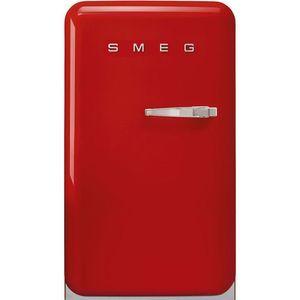 Réfrigérateur 1 porte SMEG FAB10HLCR2 Réfrigérateur 130 l, A++ HAPPY BAR H96CM ROUGE CH GAUCHE