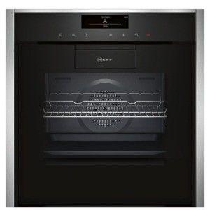 Four multifonction écoclean NEFF B88FT78N0 Porte Slide & Hide, Full Steam avec cuisson sous vide, classe énergie A+, noir/inox