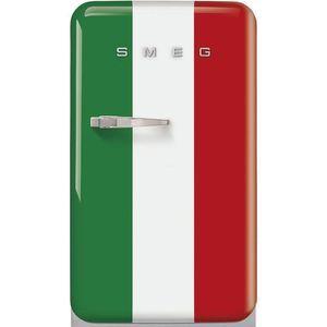 Réfrigérateur 1 porte SMEG FAB10HRDIT2 Réfrigérateur 130 l, A++ HAPPY BAR DRAPEAU ITALIEN CH DROITE