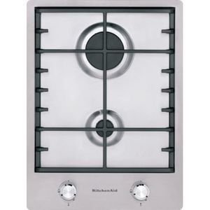 Domino 2 feux gaz KitchenAid KHDD238510 Largeur 38 cm
