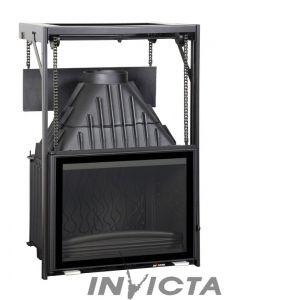 Foyer à bois Invicta 6876-43 Grand Angle 700 Puissance 14 kw, bûches de 55 cm